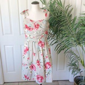 Miss Sixty 12 Tan Floral Sun Dress